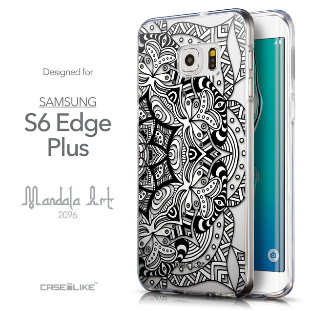 Front & Side View - CASEiLIKE Samsung Galaxy S6 Edge Plus back cover Mandala Art 2096
