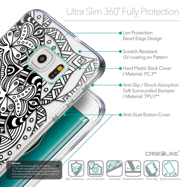 Details in English - CASEiLIKE Samsung Galaxy S6 Edge Plus back cover Mandala Art 2096