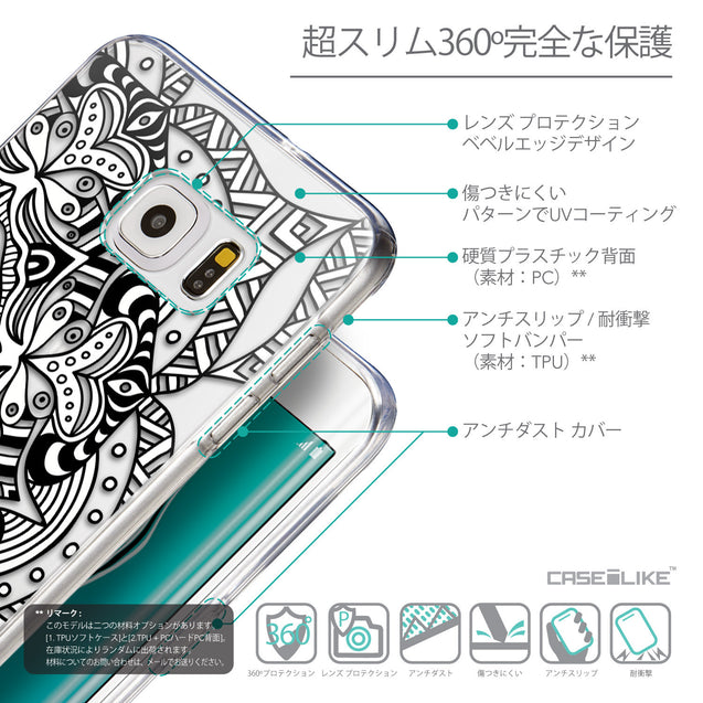 Details in Japanese - CASEiLIKE Samsung Galaxy S6 Edge Plus back cover Mandala Art 2096
