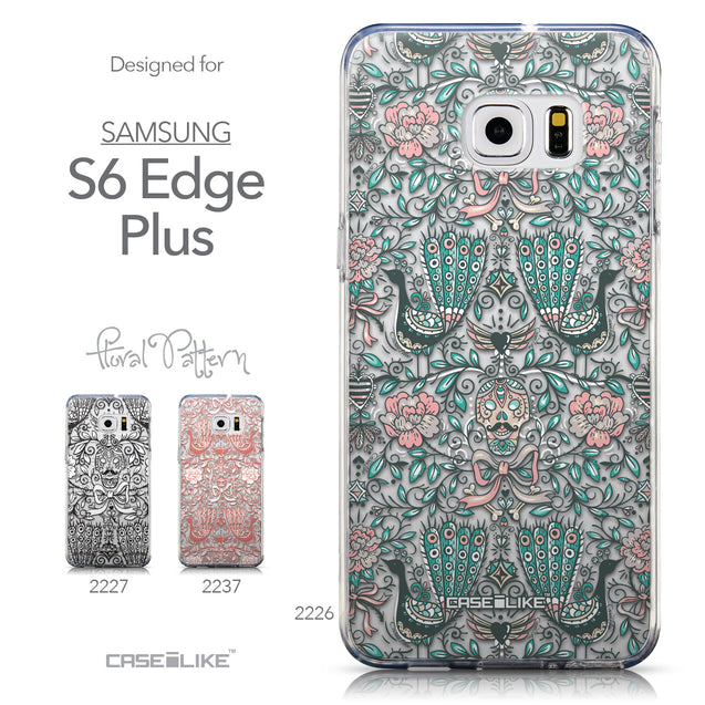 Collection - CASEiLIKE Samsung Galaxy S6 Edge Plus back cover Roses Ornamental Skulls Peacocks 2226