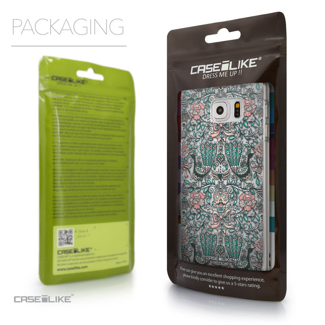 Packaging - CASEiLIKE Samsung Galaxy S6 Edge Plus back cover Roses Ornamental Skulls Peacocks 2226