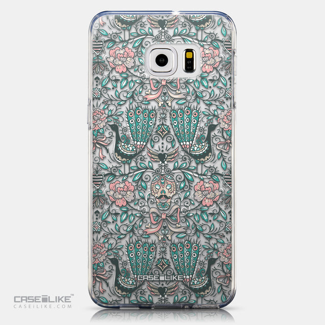 CASEiLIKE Samsung Galaxy S6 Edge Plus back cover Roses Ornamental Skulls Peacocks 2226