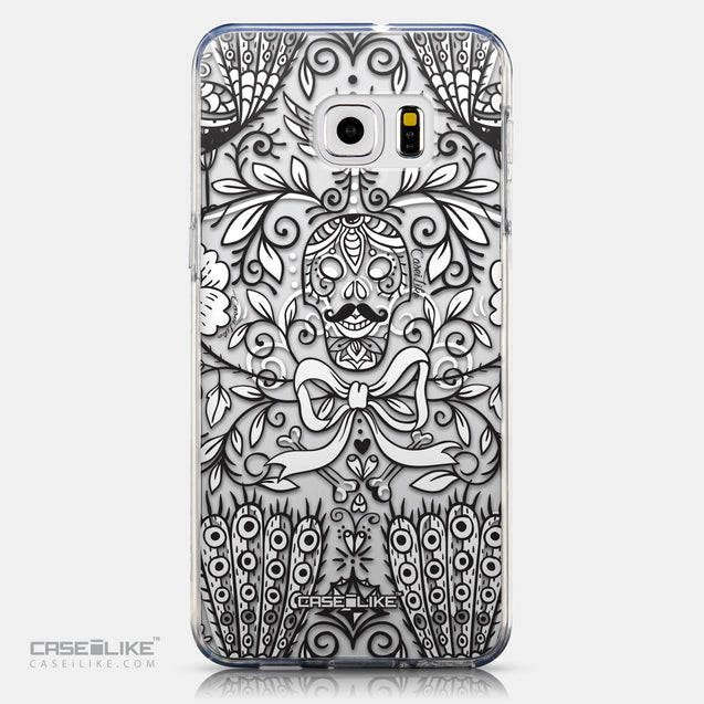 CASEiLIKE Samsung Galaxy S6 Edge Plus back cover Roses Ornamental Skulls Peacocks 2227