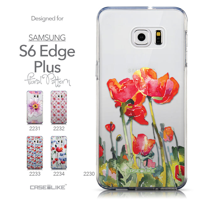 Collection - CASEiLIKE Samsung Galaxy S6 Edge Plus back cover Watercolor Floral 2230