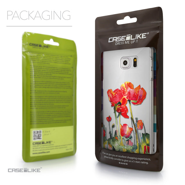 Packaging - CASEiLIKE Samsung Galaxy S6 Edge Plus back cover Watercolor Floral 2230