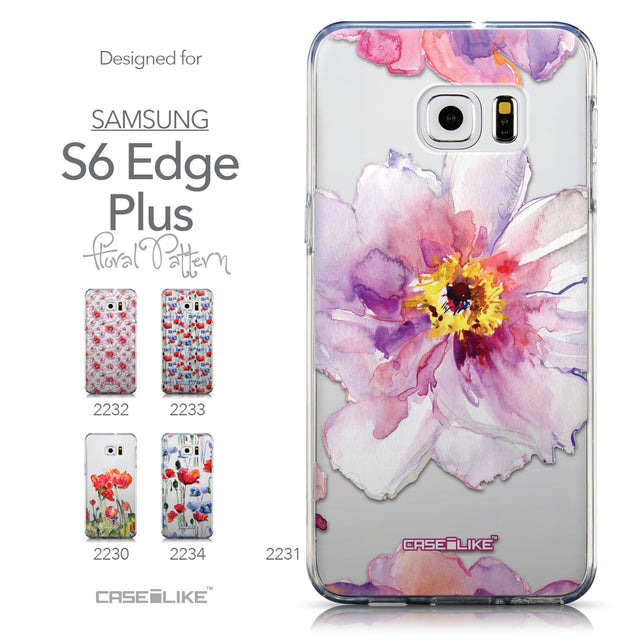Collection - CASEiLIKE Samsung Galaxy S6 Edge Plus back cover Watercolor Floral 2231