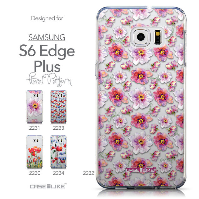 Collection - CASEiLIKE Samsung Galaxy S6 Edge Plus back cover Watercolor Floral 2232