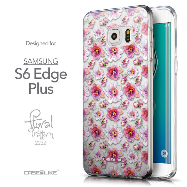 Front & Side View - CASEiLIKE Samsung Galaxy S6 Edge Plus back cover Watercolor Floral 2232