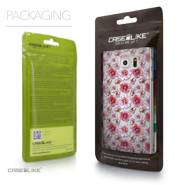 Packaging - CASEiLIKE Samsung Galaxy S6 Edge Plus back cover Watercolor Floral 2232