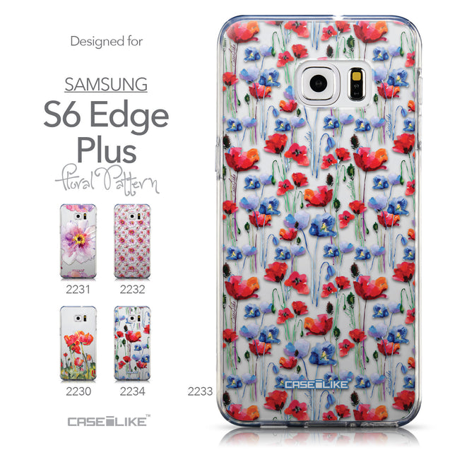 Collection - CASEiLIKE Samsung Galaxy S6 Edge Plus back cover Watercolor Floral 2233