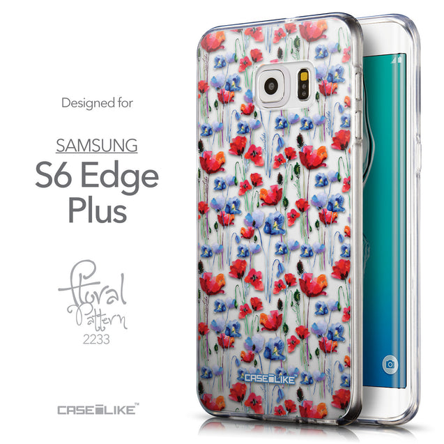 Front & Side View - CASEiLIKE Samsung Galaxy S6 Edge Plus back cover Watercolor Floral 2233