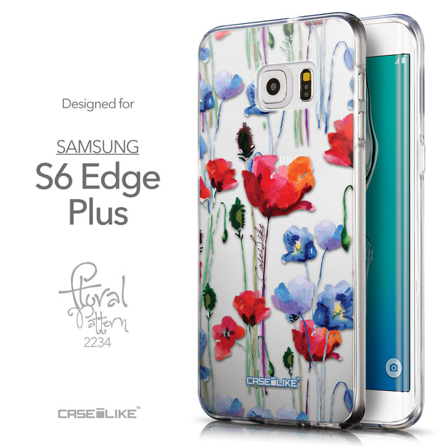 Front & Side View - CASEiLIKE Samsung Galaxy S6 Edge Plus back cover Indian Line Art 2061