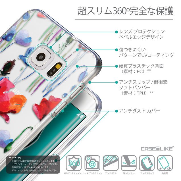 Details in Japanese - CASEiLIKE Samsung Galaxy S6 Edge Plus back cover Indian Line Art 2061