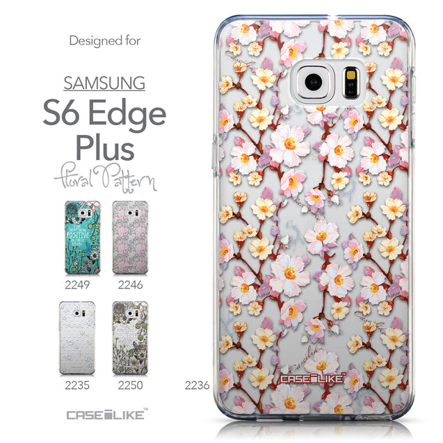 Collection - CASEiLIKE Samsung Galaxy S6 Edge Plus back cover Watercolor Floral 2236
