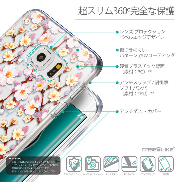 Details in Japanese - CASEiLIKE Samsung Galaxy S6 Edge Plus back cover Watercolor Floral 2236