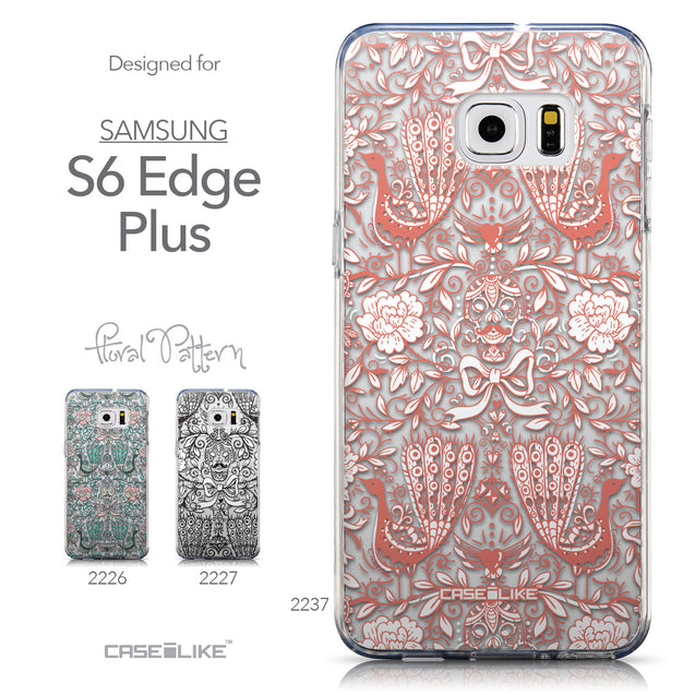 Collection - CASEiLIKE Samsung Galaxy S6 Edge Plus back cover Roses Ornamental Skulls Peacocks 2237