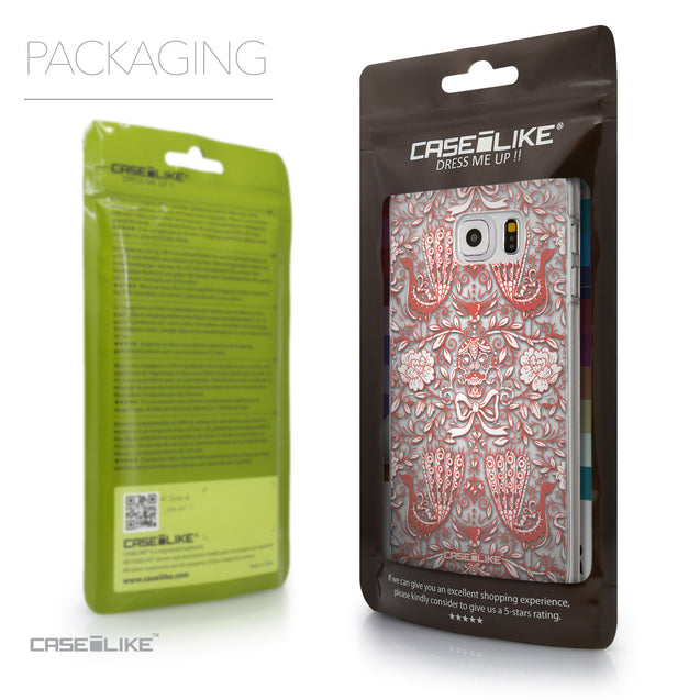 Packaging - CASEiLIKE Samsung Galaxy S6 Edge Plus back cover Roses Ornamental Skulls Peacocks 2237