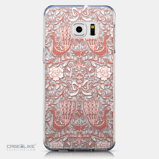 CASEiLIKE Samsung Galaxy S6 Edge Plus back cover Roses Ornamental Skulls Peacocks 2237