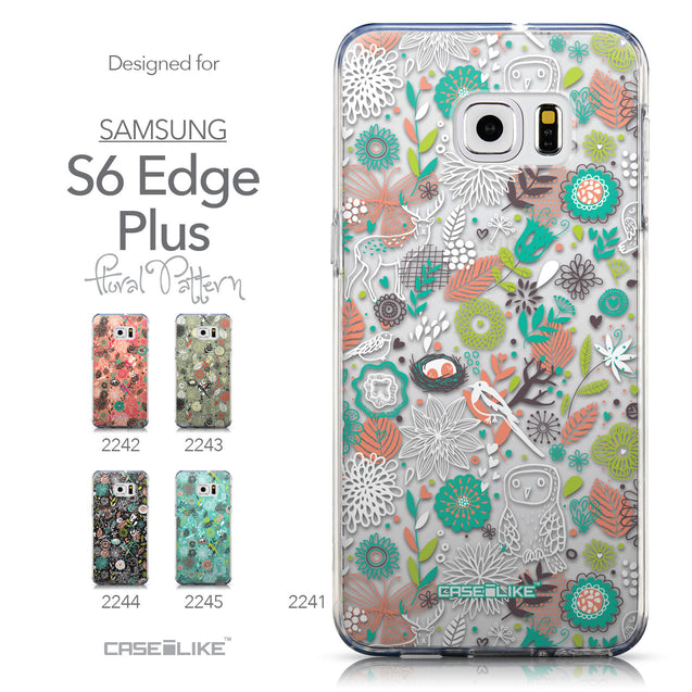Collection - CASEiLIKE Samsung Galaxy S6 Edge Plus back cover Spring Forest White 2241