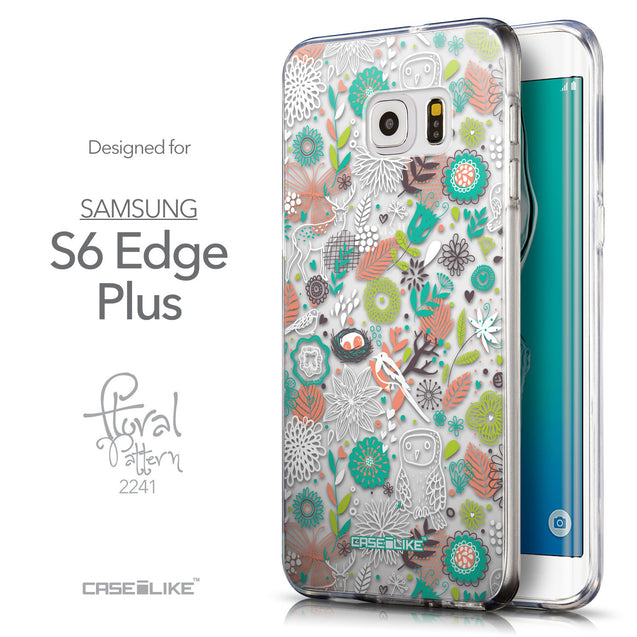 Front & Side View - CASEiLIKE Samsung Galaxy S6 Edge Plus back cover Spring Forest White 2241