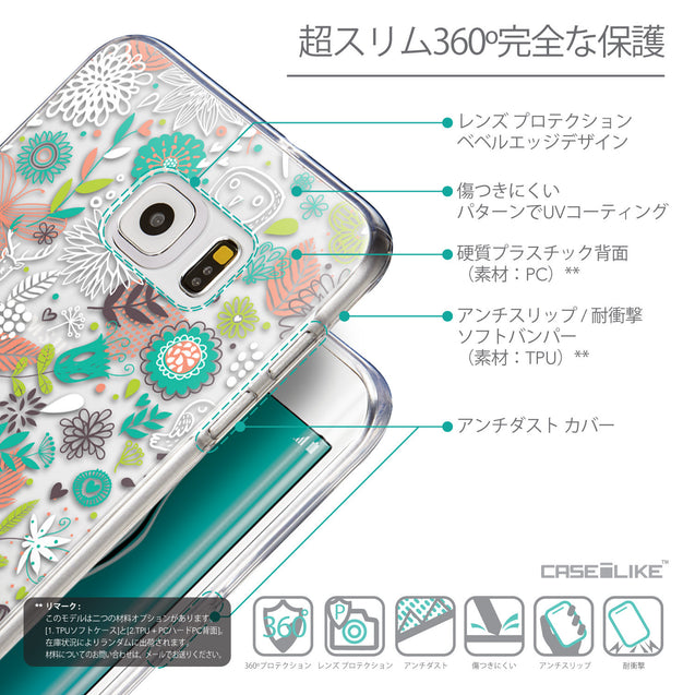 Details in Japanese - CASEiLIKE Samsung Galaxy S6 Edge Plus back cover Spring Forest White 2241