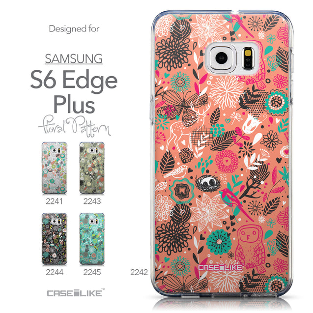 Collection - CASEiLIKE Samsung Galaxy S6 Edge Plus back cover Spring Forest Pink 2242
