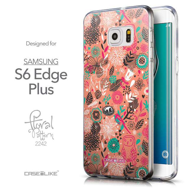 Front & Side View - CASEiLIKE Samsung Galaxy S6 Edge Plus back cover Spring Forest Pink 2242