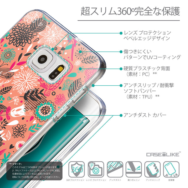 Details in Japanese - CASEiLIKE Samsung Galaxy S6 Edge Plus back cover Spring Forest Pink 2242