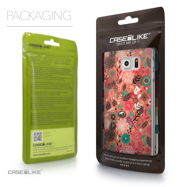 Packaging - CASEiLIKE Samsung Galaxy S6 Edge Plus back cover Spring Forest Pink 2242