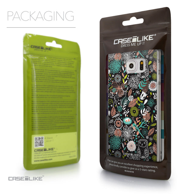 Packaging - CASEiLIKE Samsung Galaxy S6 Edge Plus back cover Spring Forest Black 2244