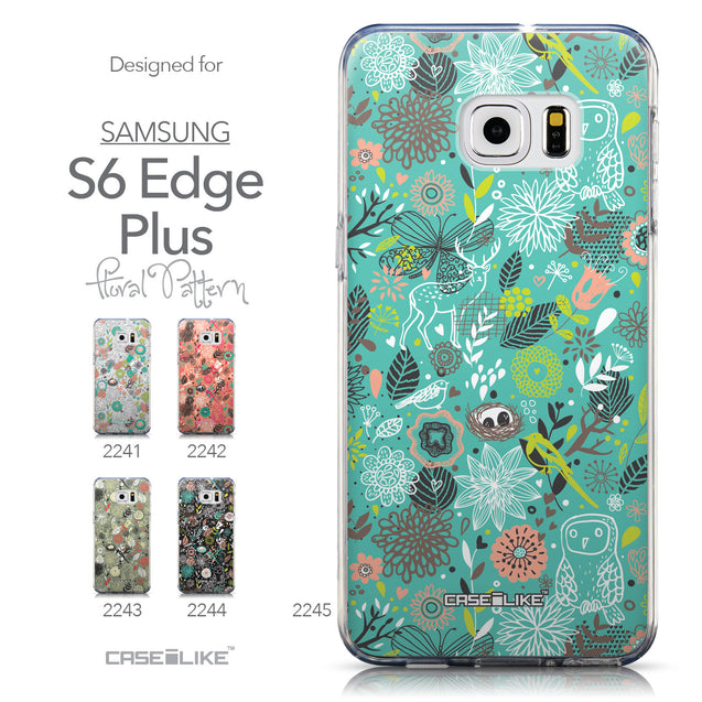 Collection - CASEiLIKE Samsung Galaxy S6 Edge Plus back cover Spring Forest Turquoise 2245