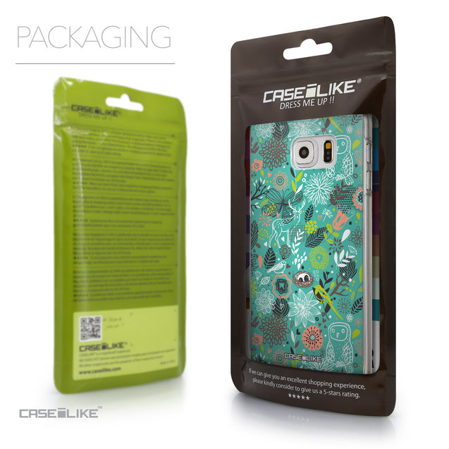 Packaging - CASEiLIKE Samsung Galaxy S6 Edge Plus back cover Spring Forest Turquoise 2245