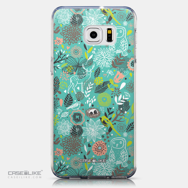CASEiLIKE Samsung Galaxy S6 Edge Plus back cover Spring Forest Turquoise 2245
