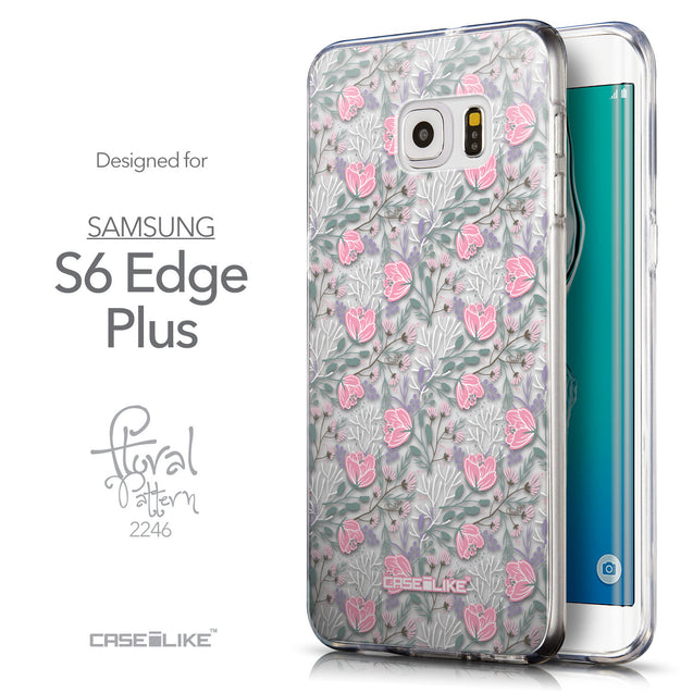 Front & Side View - CASEiLIKE Samsung Galaxy S6 Edge Plus back cover Flowers Herbs 2246