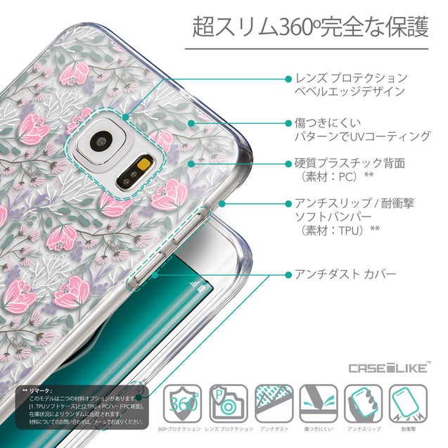 Details in Japanese - CASEiLIKE Samsung Galaxy S6 Edge Plus back cover Flowers Herbs 2246