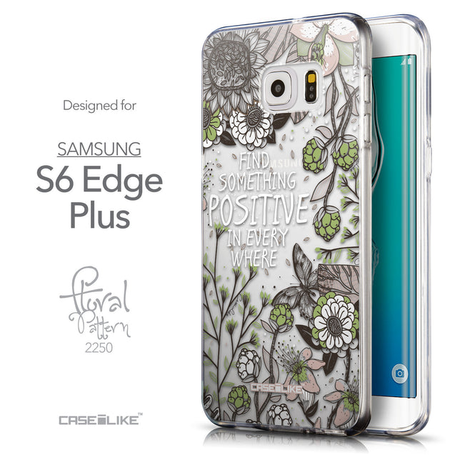 Front & Side View - CASEiLIKE Samsung Galaxy S6 Edge Plus back cover Blooming Flowers 2250