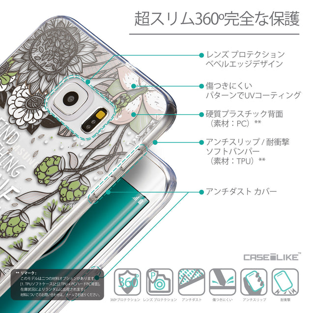 Details in Japanese - CASEiLIKE Samsung Galaxy S6 Edge Plus back cover Blooming Flowers 2250