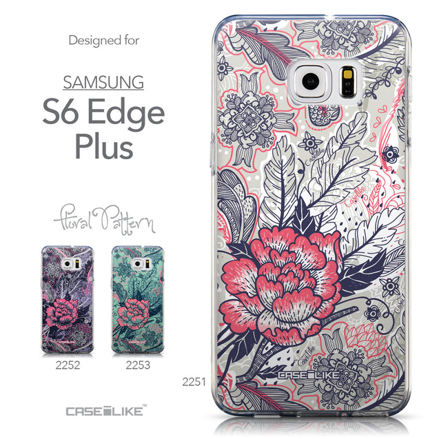 Collection - CASEiLIKE Samsung Galaxy S6 Edge Plus back cover Vintage Roses and Feathers Beige 2251