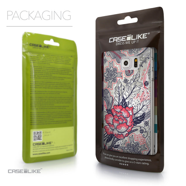 Packaging - CASEiLIKE Samsung Galaxy S6 Edge Plus back cover Vintage Roses and Feathers Beige 2251