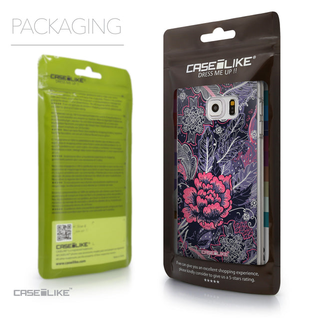 Packaging - CASEiLIKE Samsung Galaxy S6 Edge Plus back cover Vintage Roses and Feathers Blue 2252