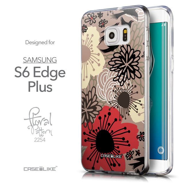 Front & Side View - CASEiLIKE Samsung Galaxy S6 Edge Plus back cover Japanese Floral 2254