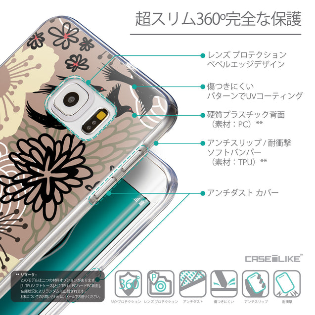 Details in Japanese - CASEiLIKE Samsung Galaxy S6 Edge Plus back cover Japanese Floral 2254