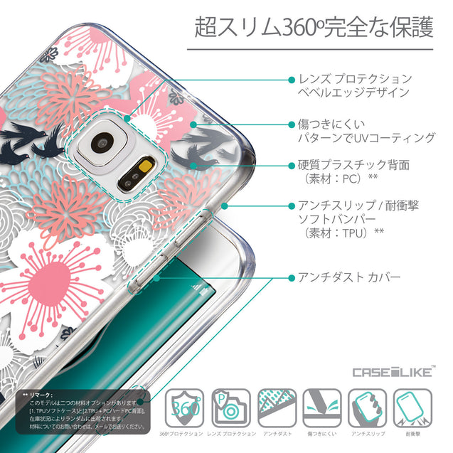 Details in Japanese - CASEiLIKE Samsung Galaxy S6 Edge Plus back cover Japanese Floral 2255