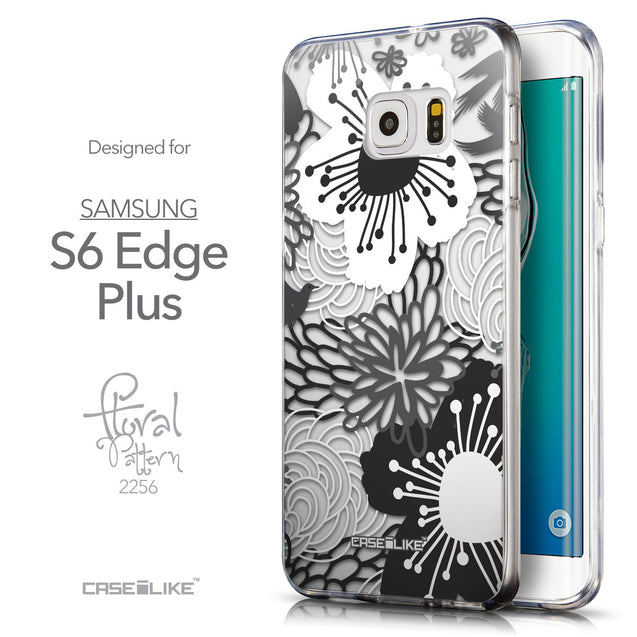 Front & Side View - CASEiLIKE Samsung Galaxy S6 Edge Plus back cover Japanese Floral 2256