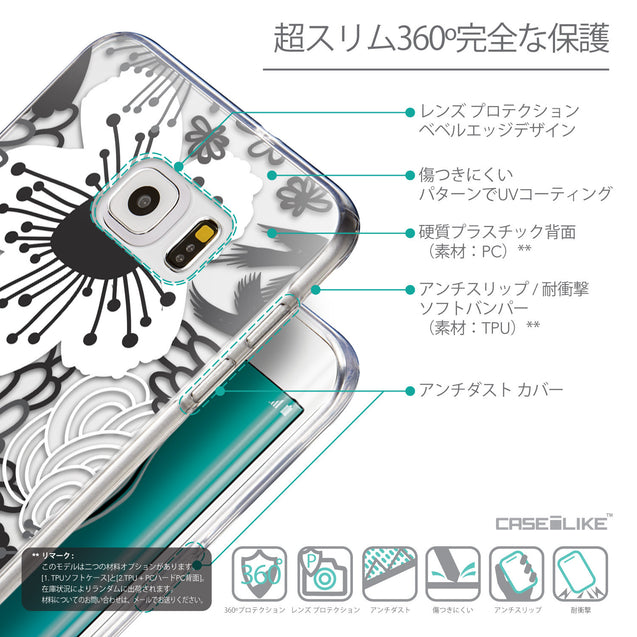 Details in Japanese - CASEiLIKE Samsung Galaxy S6 Edge Plus back cover Japanese Floral 2256