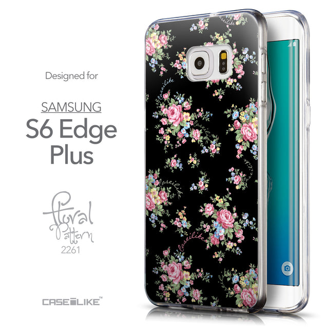 Front & Side View - CASEiLIKE Samsung Galaxy S6 Edge Plus back cover Floral Rose Classic 2261