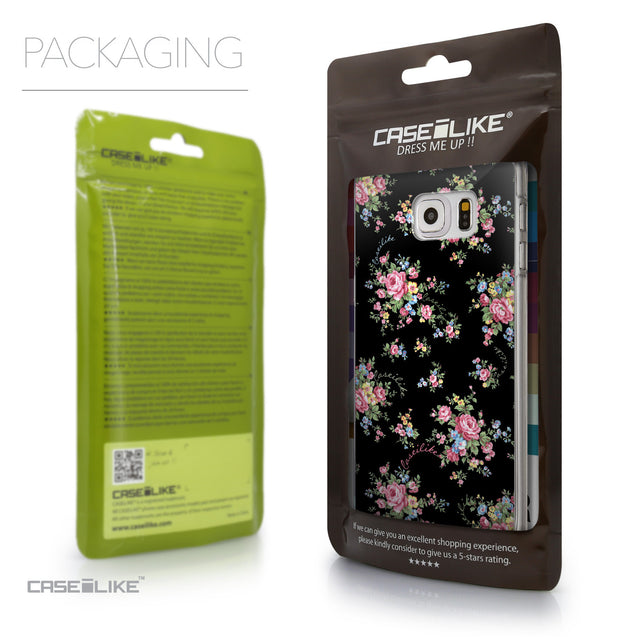 Packaging - CASEiLIKE Samsung Galaxy S6 Edge Plus back cover Floral Rose Classic 2261
