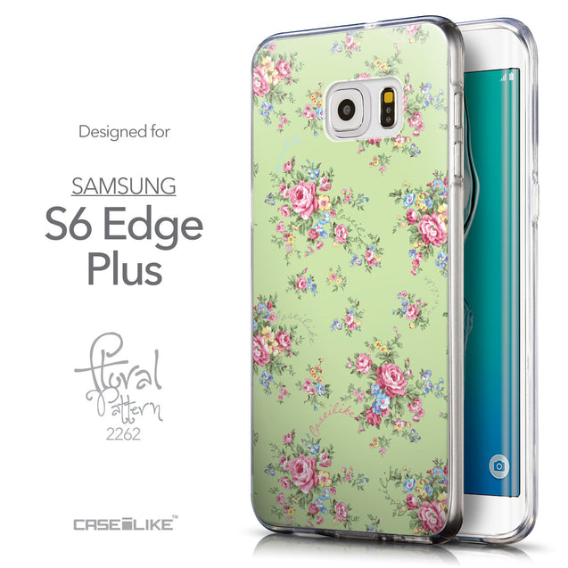 Front & Side View - CASEiLIKE Samsung Galaxy S6 Edge Plus back cover Floral Rose Classic 2262
