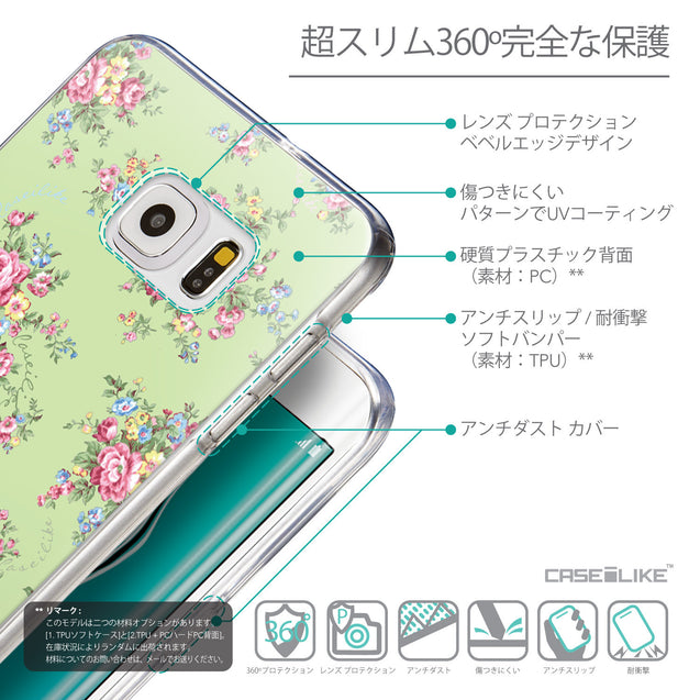 Details in Japanese - CASEiLIKE Samsung Galaxy S6 Edge Plus back cover Floral Rose Classic 2262