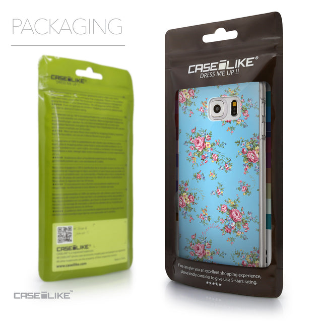 Packaging - CASEiLIKE Samsung Galaxy S6 Edge Plus back cover Floral Rose Classic 2263